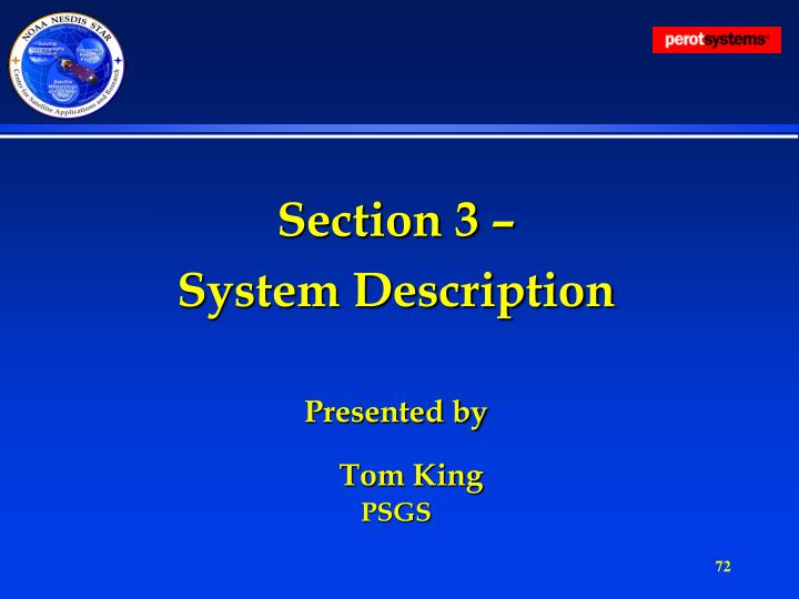 Section 3 –