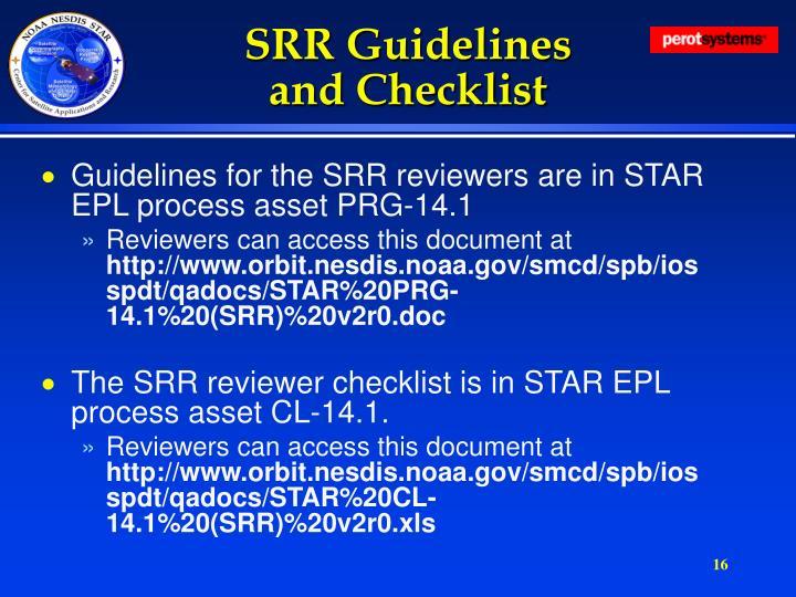 SRR Guidelines