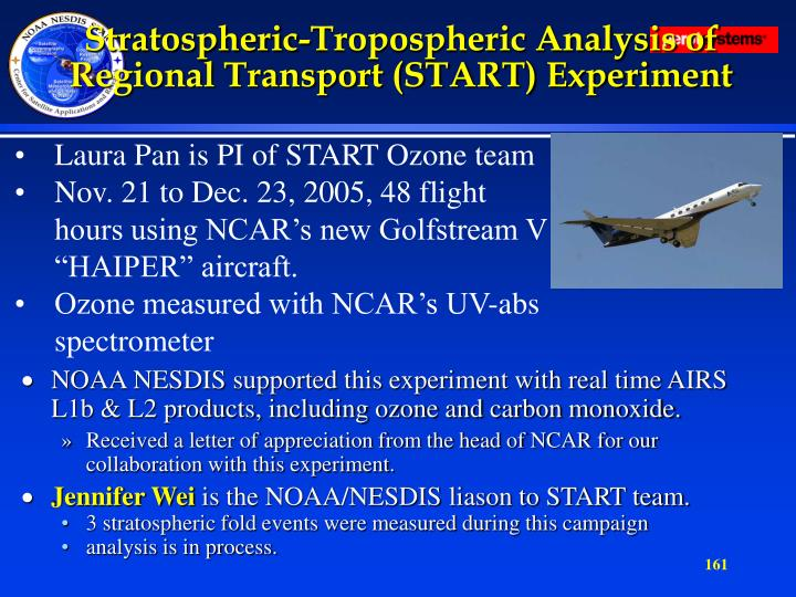 Stratospheric-Tropospheric Analysis of Regional Transport (START) Experiment