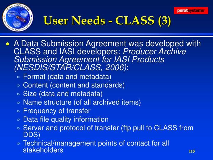 User Needs - CLASS (3)