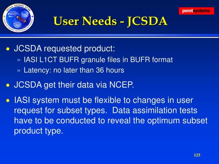 User Needs - JCSDA