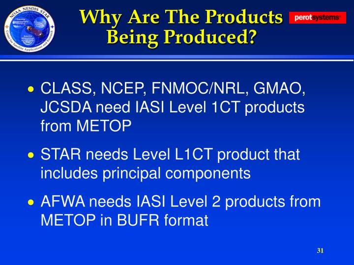 Why Are The Products Being Produced?