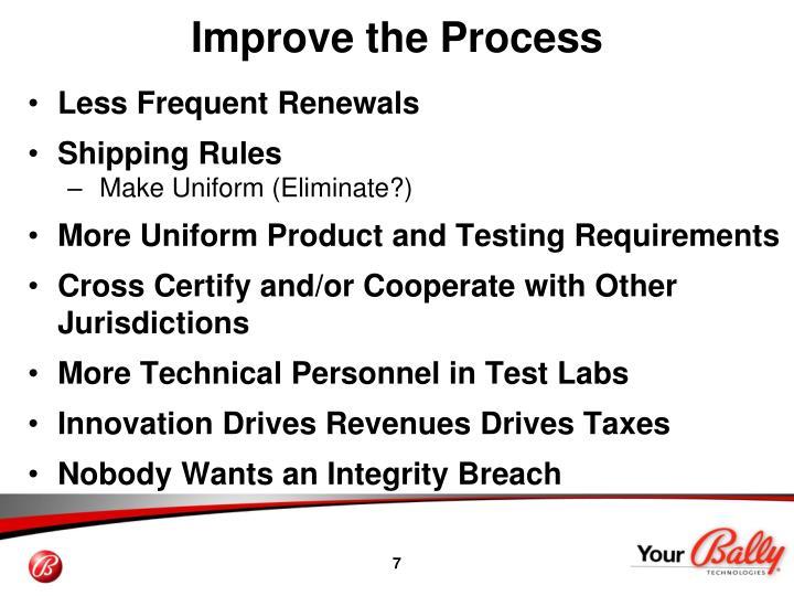 Improve the Process