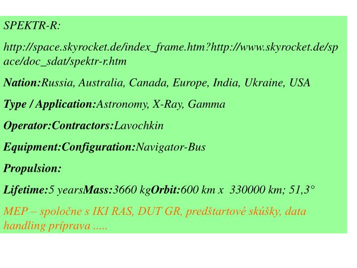 SPEKTR-R: