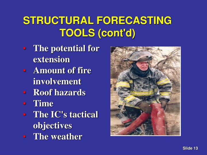 STRUCTURAL FORECASTING TOOLS (cont'd)