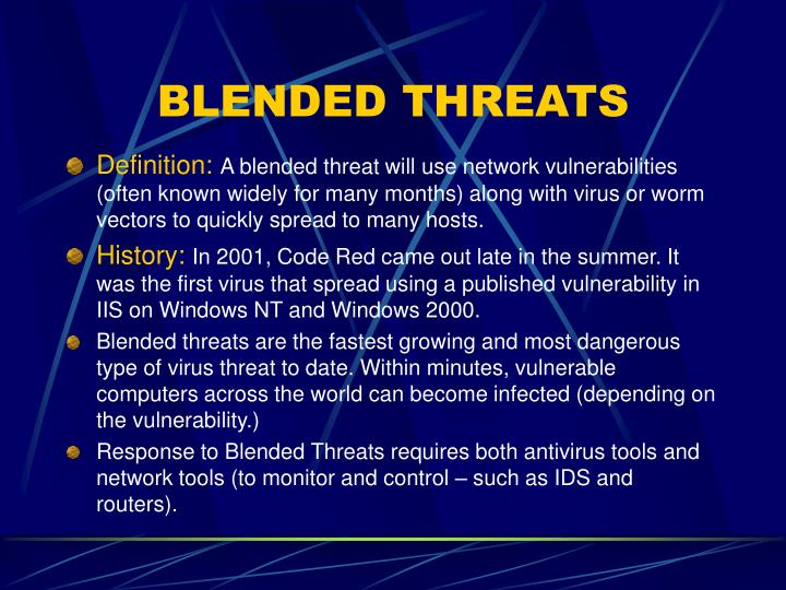 BLENDED THREATS