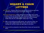 hoaxes chain letters
