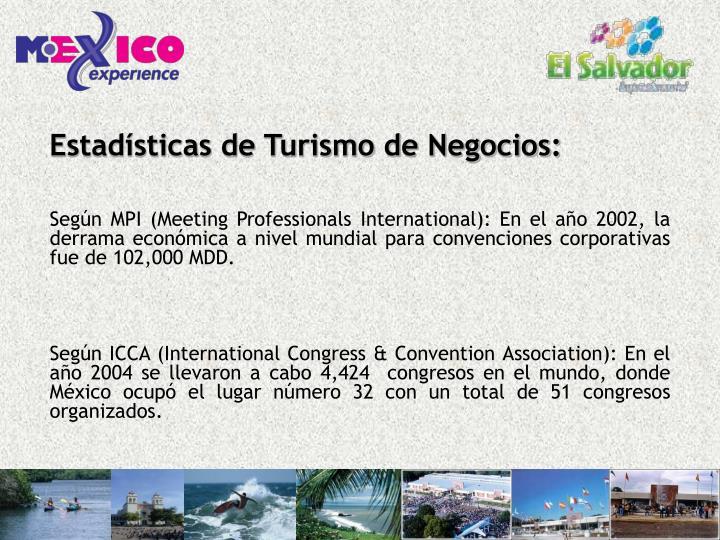 Estadísticas de Turismo de Negocios:
