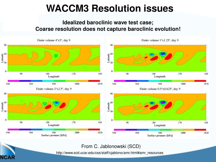 WACCM3 Resolution issues