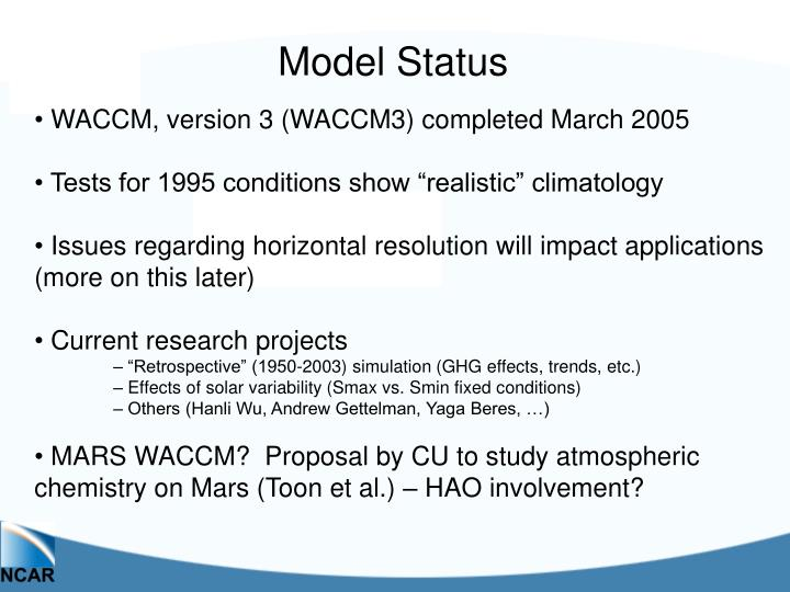 Model Status