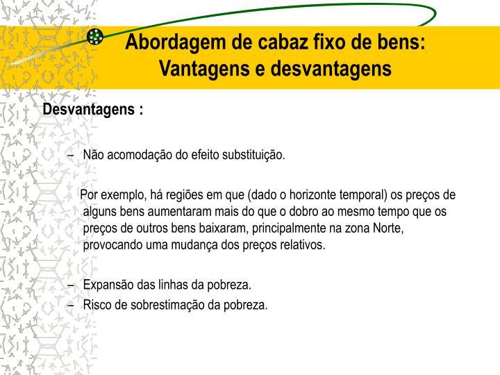 Abordagem de cabaz fixo de bens: