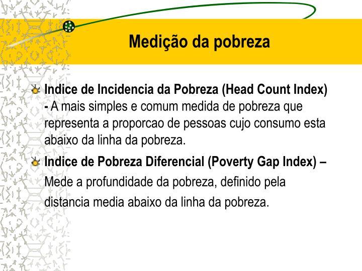 Medição da pobreza