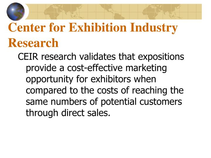 Center for Exhibition Industry Research