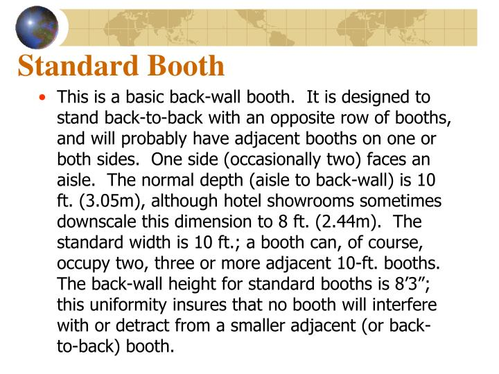 Standard Booth