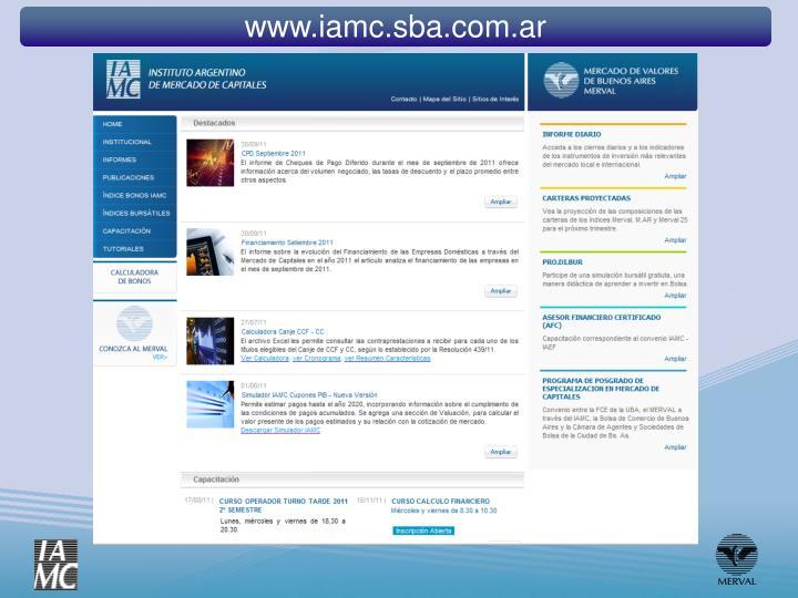 www.iamc.sba.com.ar