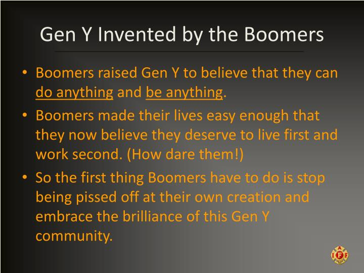 Gen Y Invented by the Boomers