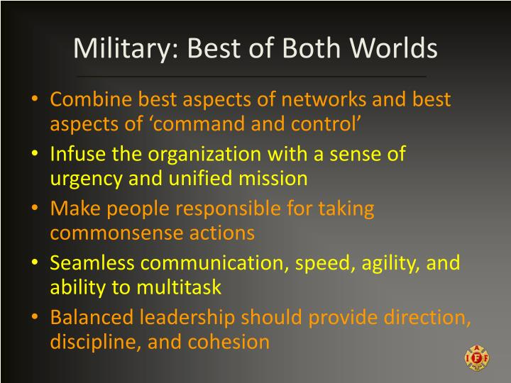 Military: Best of Both Worlds