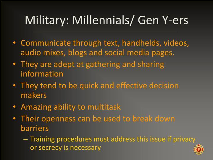 Military: