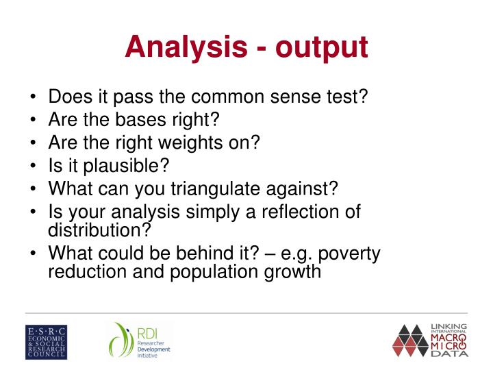 Analysis - output