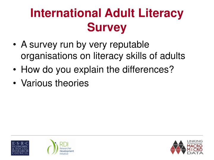 International Adult Literacy Survey