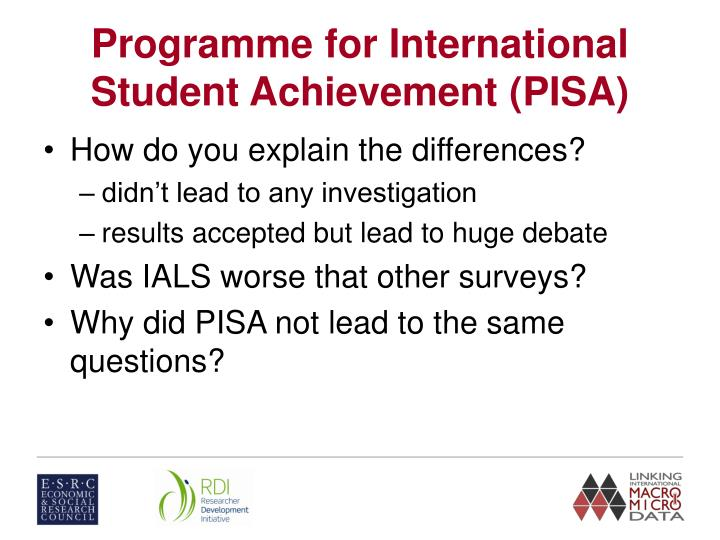 Programme for International Student Achievement (PISA)