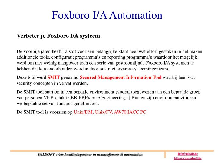 Foxboro I/A Automation