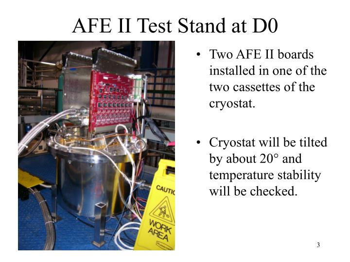 Afe ii test stand at d0
