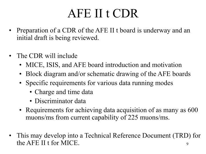 AFE II t CDR