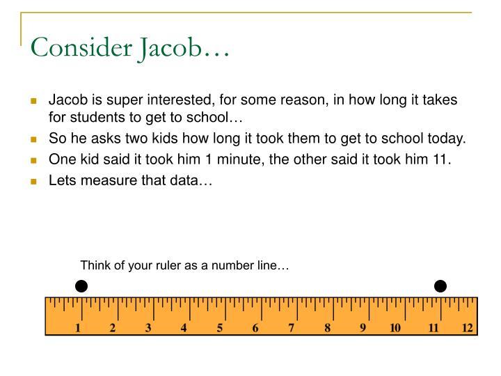 Consider Jacob…