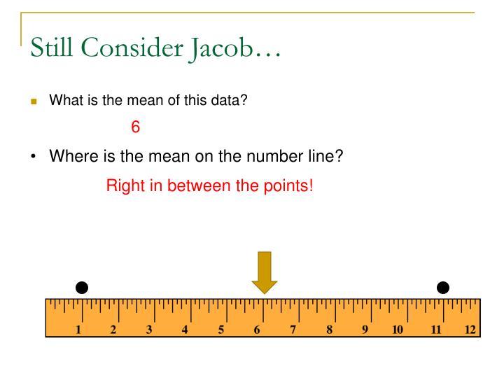 Still Consider Jacob…