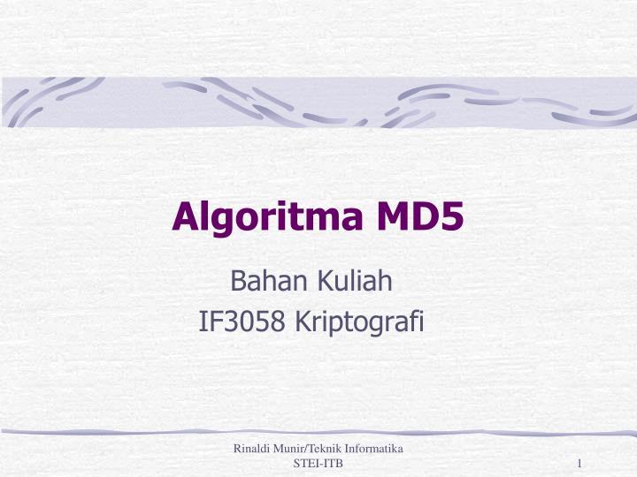 Algoritma MD5