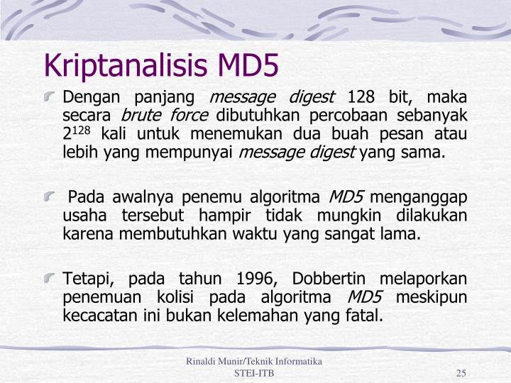 Kriptanalisis MD5