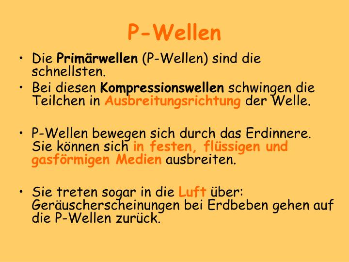 P-Wellen