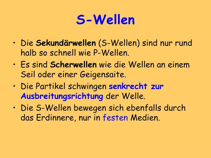 S-Wellen