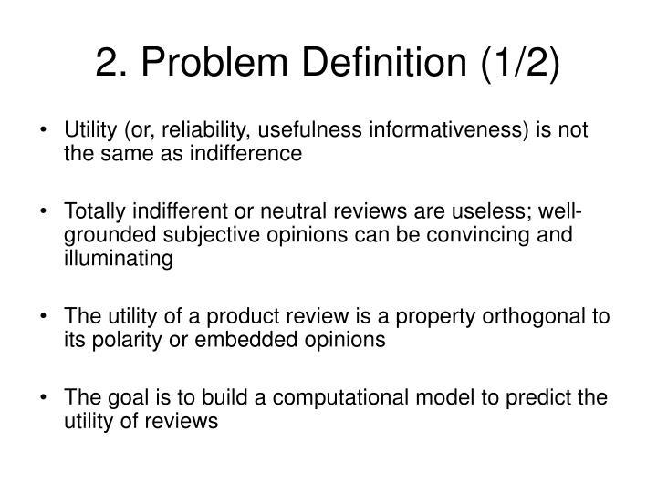 2. Problem Definition (1/2)