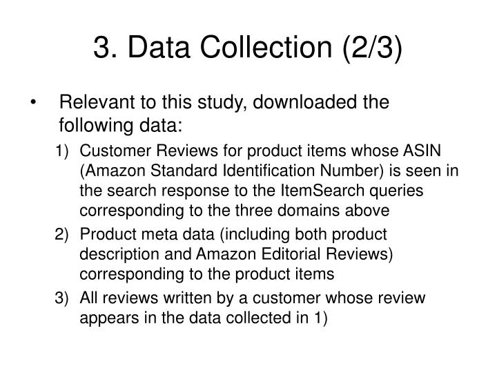 3. Data Collection (2/3)