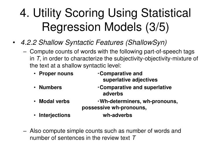 4. Utility Scoring Using Statistical Regression Models (3/5)