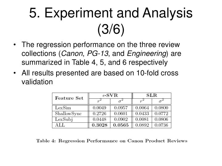 5. Experiment and Analysis (3/6)