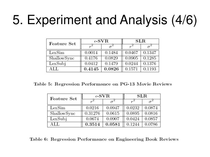 5. Experiment and Analysis (4/6)