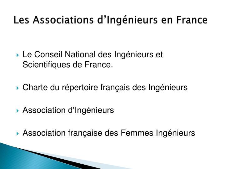 Les Associations d'Ingénieurs en France