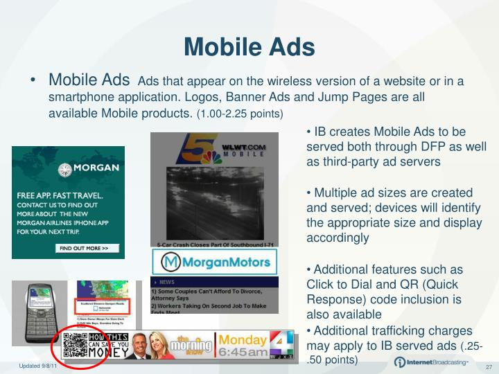 IB creates Mobile Ads to be served both through DFP as well as third-party ad servers