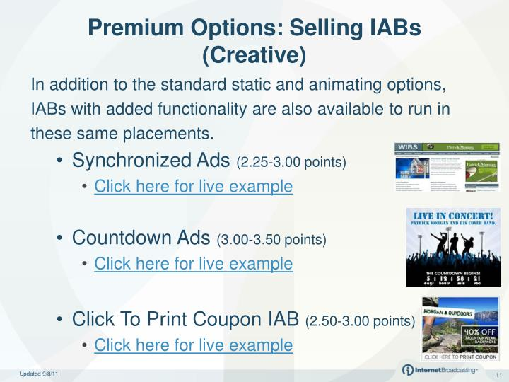 Premium Options: Selling IABs