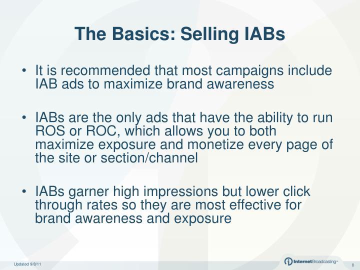 The Basics: Selling IABs