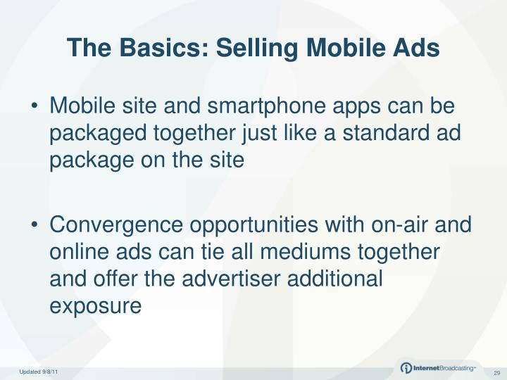 The Basics: Selling Mobile Ads