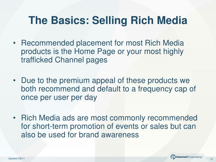 The Basics: Selling Rich Media