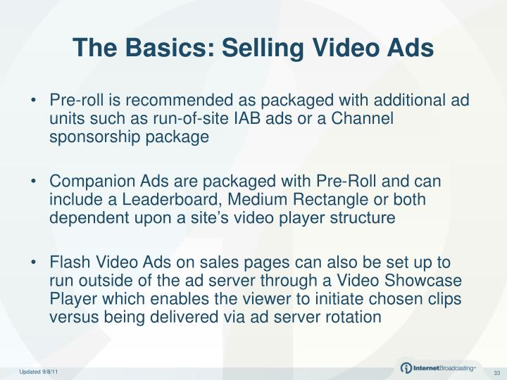 The Basics: Selling Video Ads