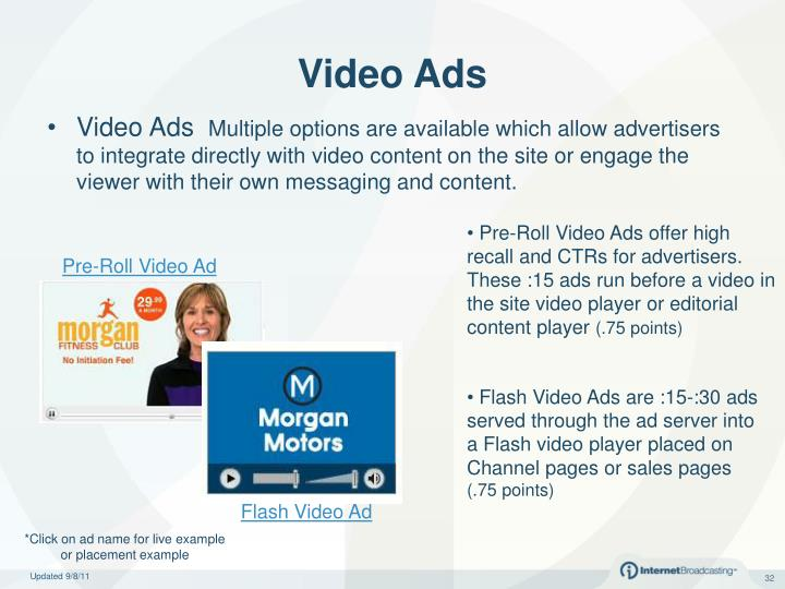Pre-Roll Video Ads offer high recall and CTRs for advertisers. These :15 ads run before a video in the site video player or editorial content player