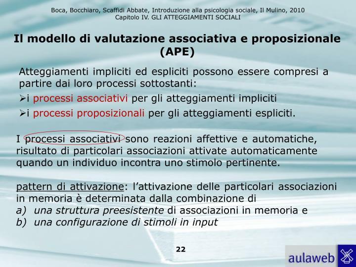 Il modello di valutazione associativa e proposizionale (APE)