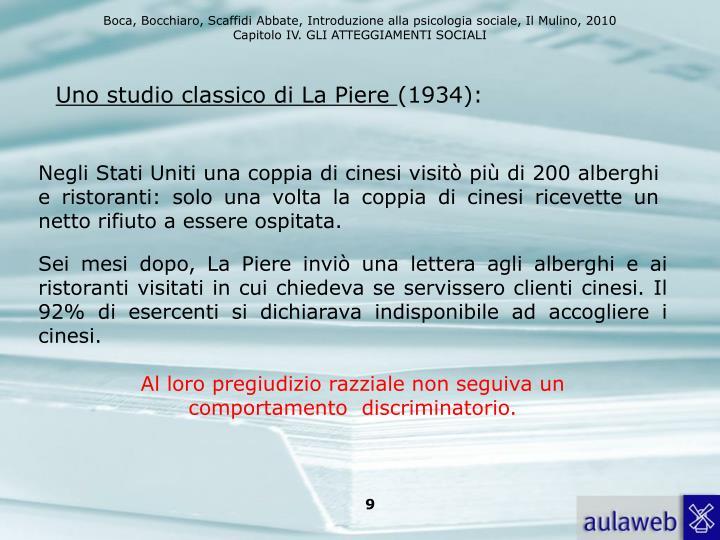 Uno studio classico di La Piere