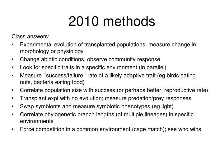 2010 methods